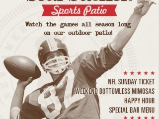 Searsucker Del Mar has the Golden Ticket...and by Golden Ticket we mean the #NFLSundayTicket!! Join us every #GameDay on our patio for some EaTs & drink specials.