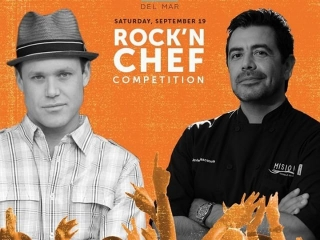 "We're heading to #KAABOO TODAY to cheer on our very own Chef @BrianMalarkey at the #ChefsRoll ""Rock N' Chef Competition""! Who's coming with us?"