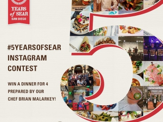 ????We're celebrating #5YearsOfSear at our flagship in the Gaslamp District! Share your favorite memories from #Searsucker on Instagram for a chance to WIN DINNER by Chef @BrianMalarkey!  1) Follow @Searsucker on Instagram 2) Upload a photo from your experience at ANY Searsucker location! 3) Use hashtag #5YearsOfSear (*Make sure your setting is PUBLIC)